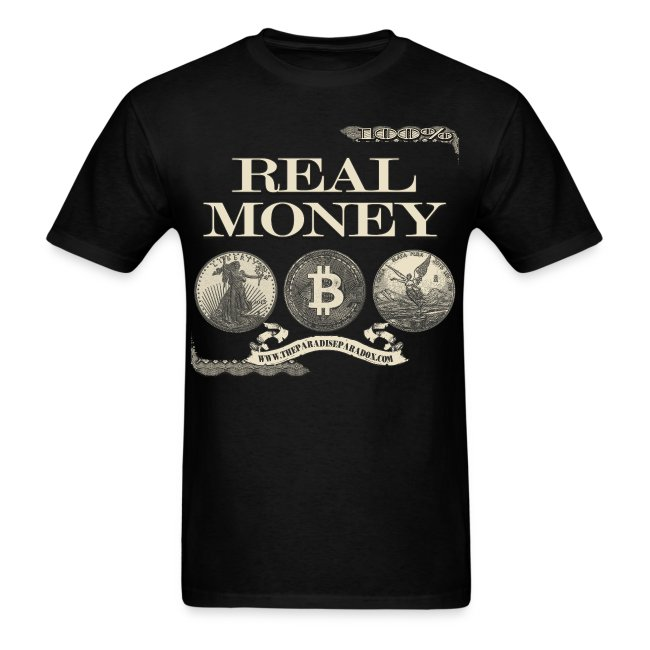 Real Money men's tee half border