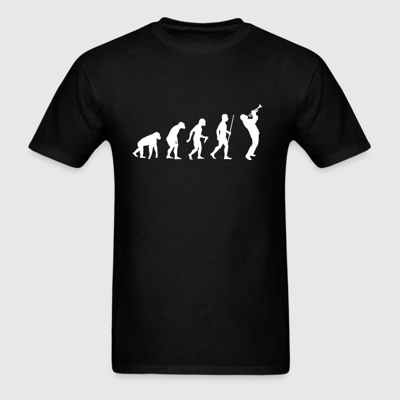 Evolution of Man Trumpet - Men's T-Shirt