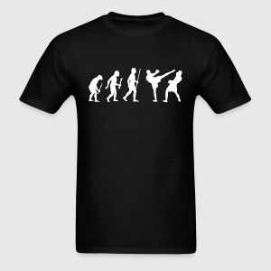 Evolution of Man Kickboxing - Men's T-Shirt