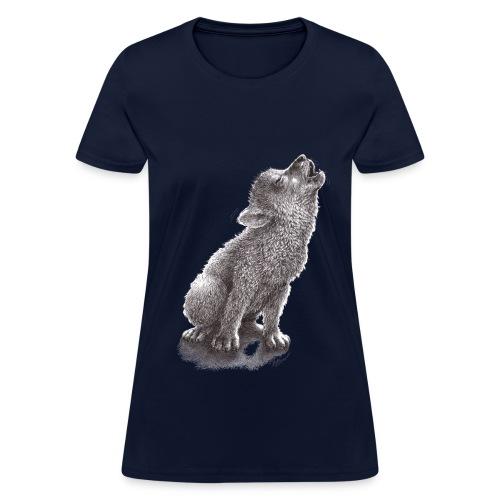 Young Howling Wolf - Women's T-Shirt