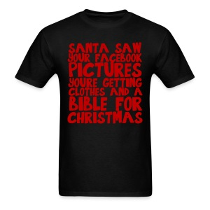 Santa saw your Facebook pictures - Men's T-Shirt