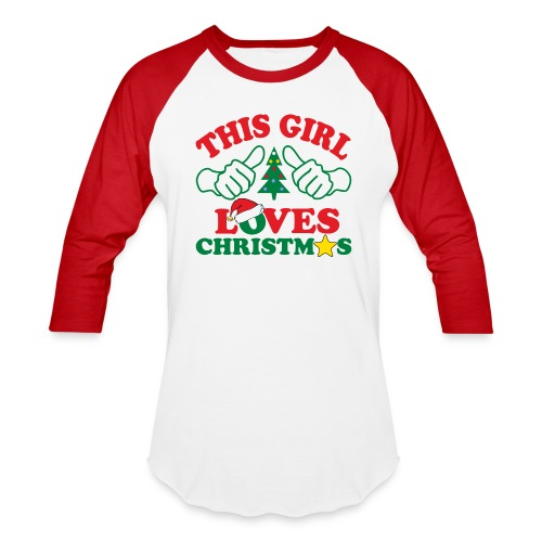 This Girl Loves Christmas - Baseball T-Shirt