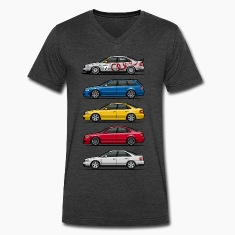 Stack of Audi A4 B5 T-Shirts