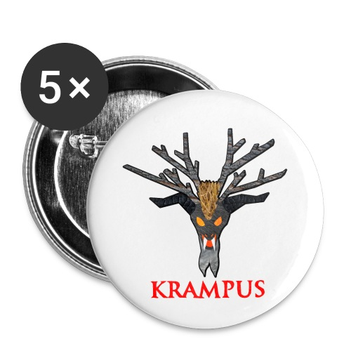 Krampus Button 5-Pack - Small Buttons
