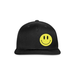 Smiley Lid Black - Snap-back Baseball Cap