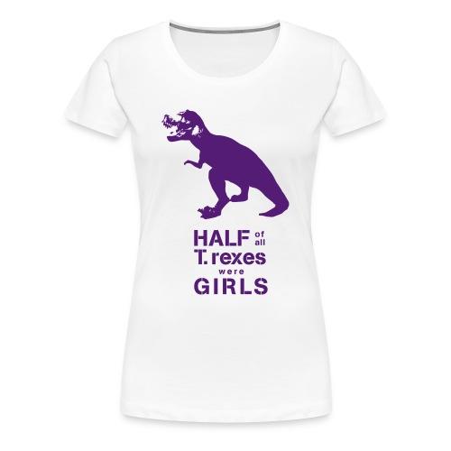 T.rex Fitted Tee - Women's Premium T-Shirt