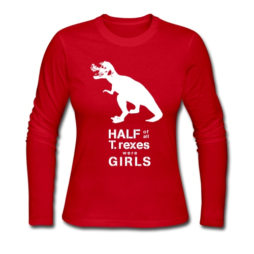 T.rex Long Sleeved Tee - Women's Long Sleeve Jersey T-Shirt