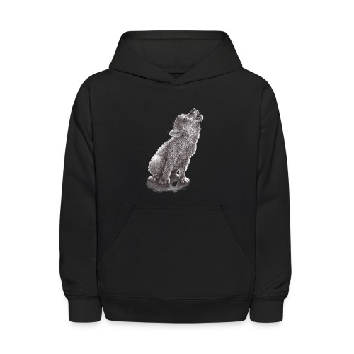 Young Howling Wolf - Kids' Hoodie