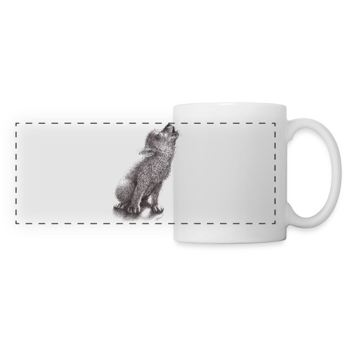Young Howling Dog - Panoramic Mug