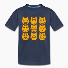 The 9 Lives of the Emoji Cat Baby & Toddler Shirts