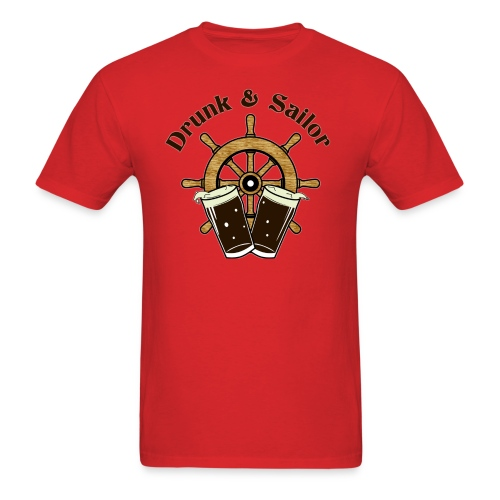 Drunk & Sailor men's t-shirt - Men's T-Shirt