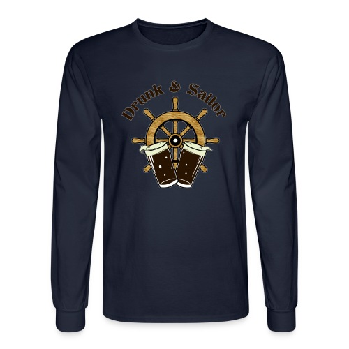 Drunk & Sailor men's long-sleeved t-shirt - Men's Long Sleeve T-Shirt
