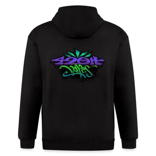 Mens Zip-UP Hoodie 42oh Logo 3 - Men's Zip Hoodie