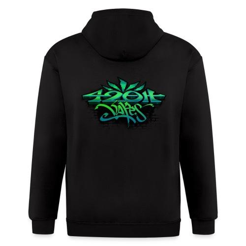 Mens Zip-UP Hoodie 42oh Logo 4 - Men's Zip Hoodie