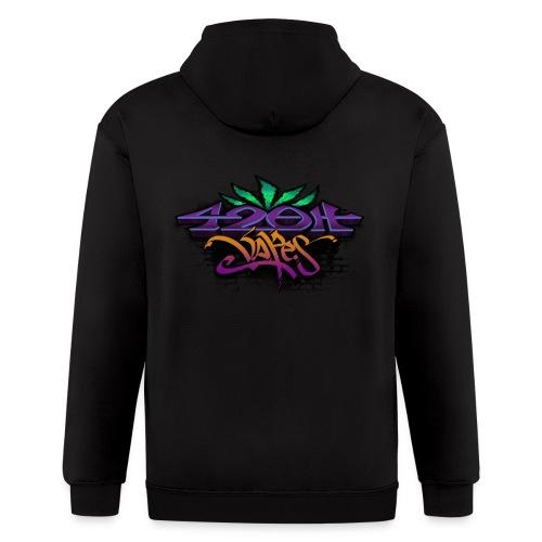 Mens Zip-UP Hoodie 42oh Logo 2 - Men's Zip Hoodie