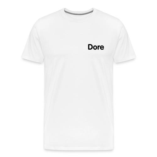 Dore white TSHIRT  - Men's Premium T-Shirt