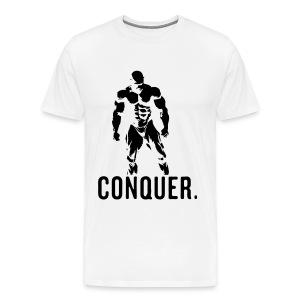 Conquer White T-Shirt - Men's Premium T-Shirt
