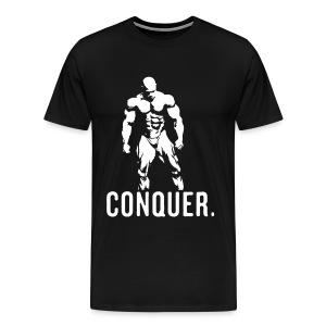 Conquer Black T-Shirt - Men's Premium T-Shirt
