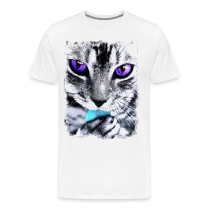 Purple eyes Cat - Men's Premium T-Shirt
