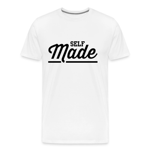 Self Made White T-Shirt - Men's Premium T-Shirt