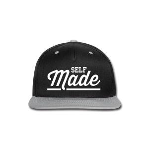 Self Made Black/Grey Snapback - Snap-back Baseball Cap