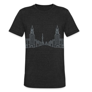 Frankfurter Tor Berlin - Unisex Tri-Blend T-Shirt by American Apparel