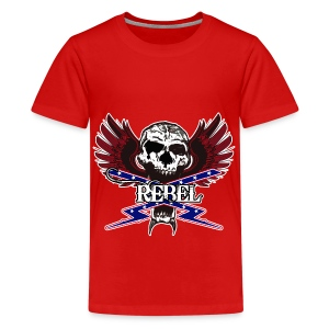 REBEL SKULL - Kids' Premium T-Shirt