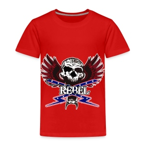 REBEL SKULL - Toddler Premium T-Shirt