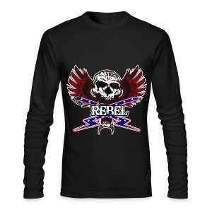 REBEL SKULL - Men's Long Sleeve T-Shirt by Next Level