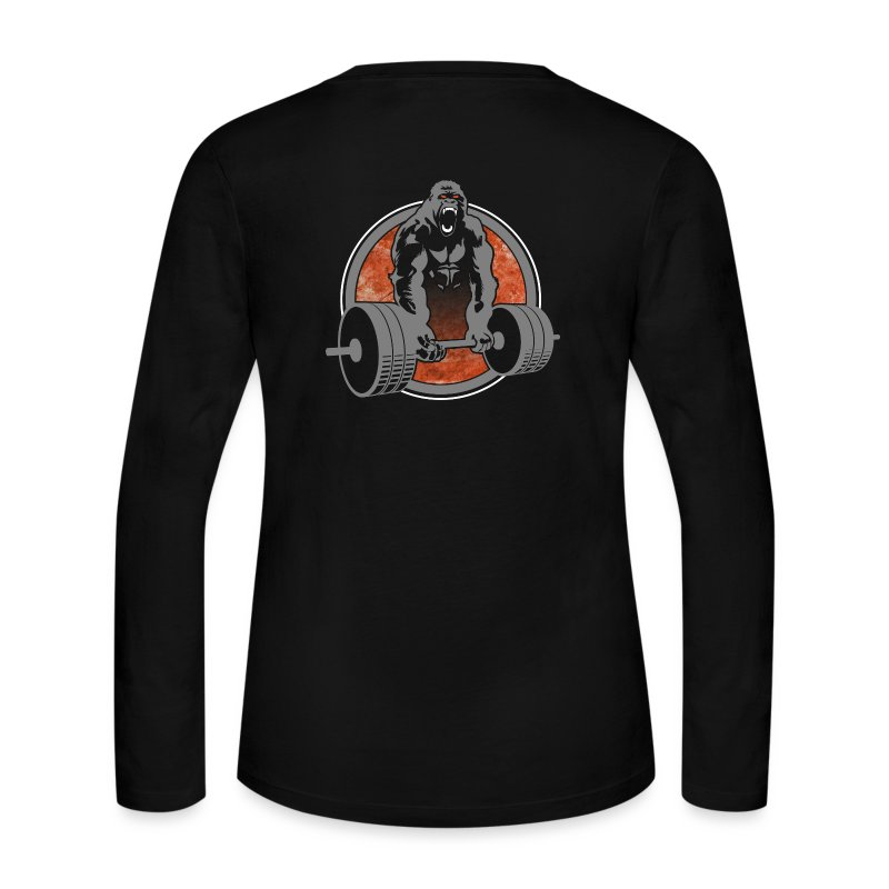 Gorilla Beast Color - Design on Back - Women's Long Sleeve Jersey T-Shirt