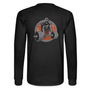Gorilla Beast Color - Design on Back - Men's Long Sleeve T-Shirt