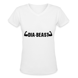 Dia-Beast - Women's V-Neck T-Shirt