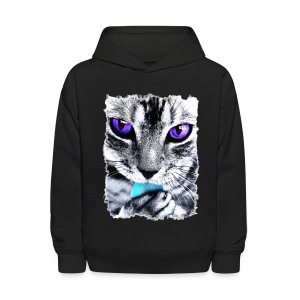 Purple eyes Cat - Kids' Hoodie