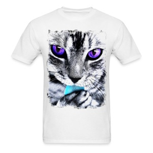 Purple eyes Cat - Men's T-Shirt