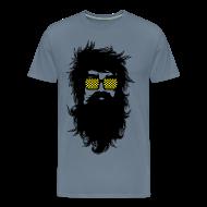 T-Shirts ~ Men's Premium T-Shirt ~ Men With Beards & Glasses
