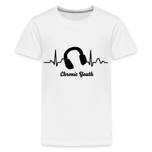 Headphones Heart Monitor - Kids' Premium T-Shirt
