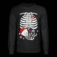 Long Sleeve Shirts ~ Men's Long Sleeve T-Shirt ~ Santa Baby Skelly  (non maternity)