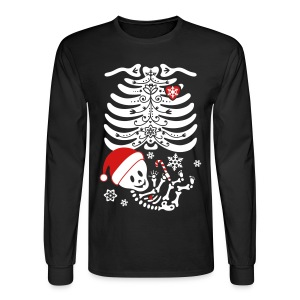 Santa Baby Skelly  (non maternity) - Men's Long Sleeve T-Shirt