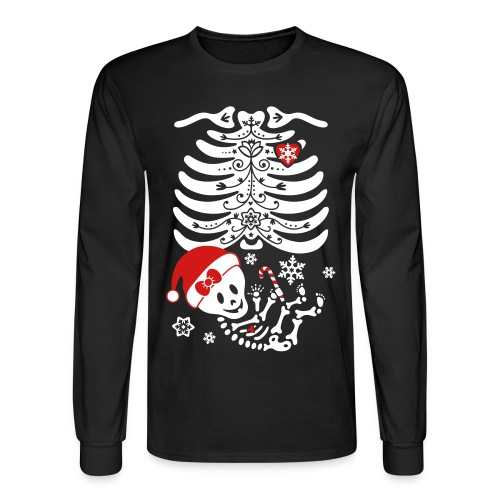 Santa Baby Skelly - Girl (non maternity) - Men's Long Sleeve T-Shirt