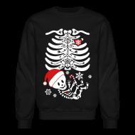 Long Sleeve Shirts ~ Crewneck Sweatshirt ~ Santa Baby Skelly (non maternity)