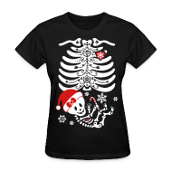 Women's T-Shirts ~ Women's T-Shirt ~ Santa Baby Skelly - Girl (non maternity)
