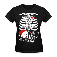 Women's T-Shirts ~ Women's T-Shirt ~ Santa Baby Skelly  (non maternity)
