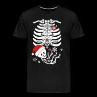T-Shirts ~ Men's Premium T-Shirt ~ Santa Baby Skelly  (non maternity)