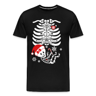 T-Shirts ~ Men's Premium T-Shirt ~ Santa Baby Skelly - Girl (non maternity)