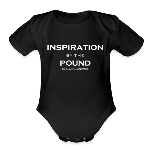 INSPIRATION BY THE POUND BABY SHORT SLEEVE ONE PIECE  - Organic Short Sleeve Baby Bodysuit