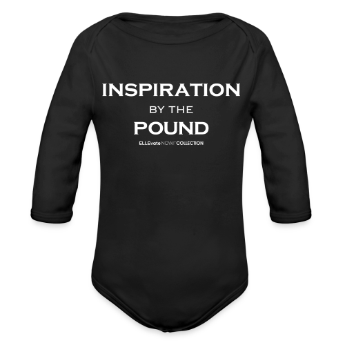 INSPIRATION BY THE POUND BABY LONG SLEEVE ONE PIECE - Organic Long Sleeve Baby Bodysuit