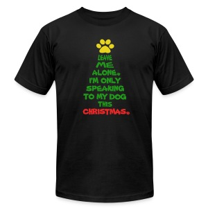 Only Speaking To My Dog This Christmas Shirt - Men's Fine Jersey T-Shirt