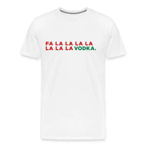 Vodka Christmas Song - Men's Premium T-Shirt