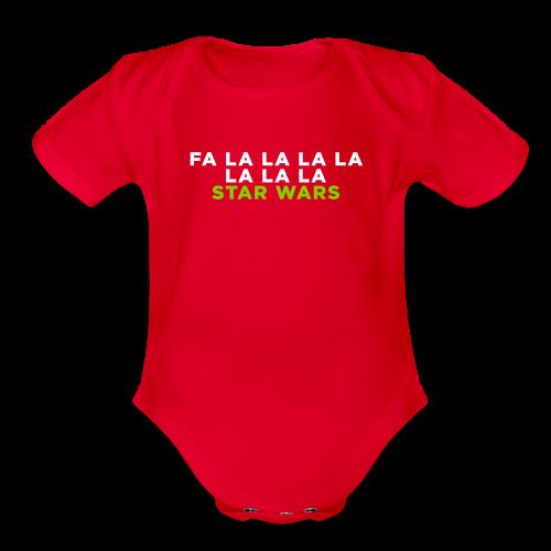 Fa La Star Wars Christmas Baby Bodysuits - Organic Short Sleeve Baby Bodysuit