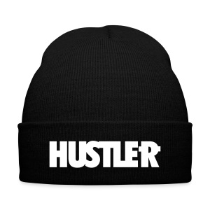 Hustler beanie with cuff  - Knit Cap with Cuff Print